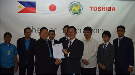 Toshiba concluded MoU with Philippine government about hydrogen based autonomous energy supply system